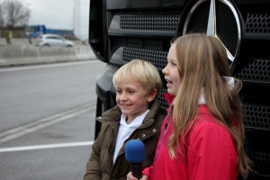 Testfahrt mal anders - Erste Kinder unterwegs im