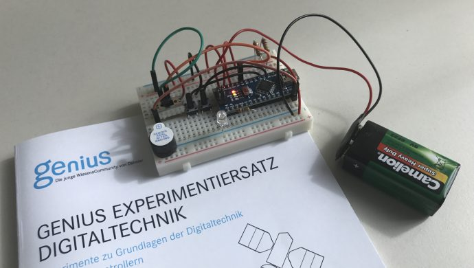 Genius die junge Wissenscommunity von Daimler, Arbeitsmateralien, Unterrichtsmaterialien, Experimentiersatz Digitaltechnik