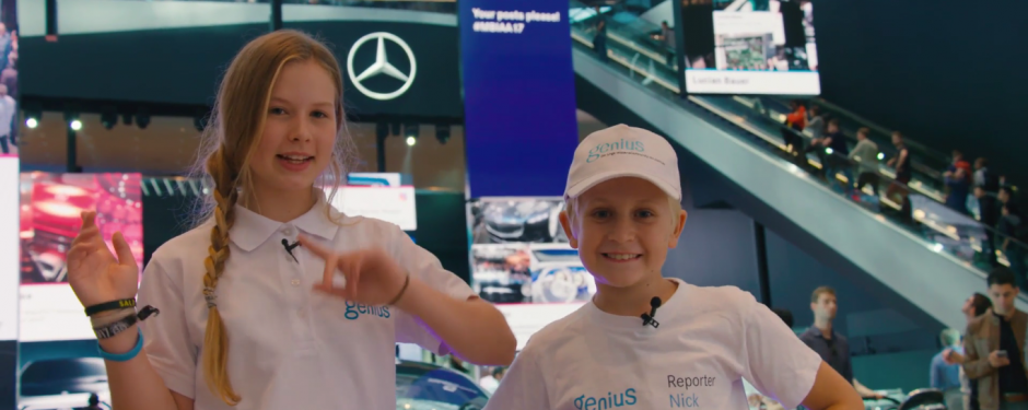Genius Wissenscommunity, Kinderreporter, Daimler, IAA 2017, Internationale Automobilausstellung Frankfurt, Mercedes-Benz