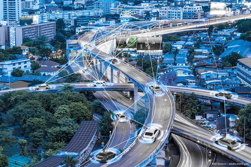 Autonome Fahrzeuge vernetzen sich mittels 5G