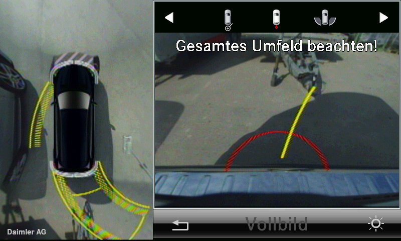 Parkassistent und 360°-Kamera erleichtern das Einparken