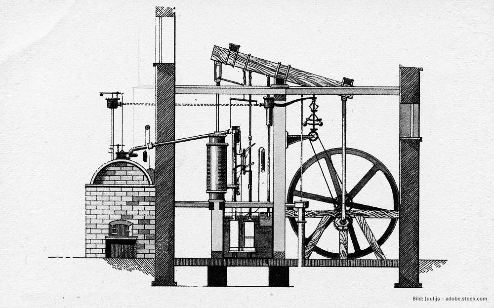 """James Watt gilt als Erfinder der Dampfmaschine und der Bezeichnung """"Pferdestärke"""""""