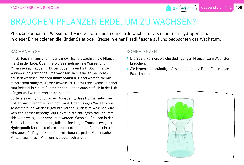 Genius Box: Brauchen Pflanzen Erde, um zu wachsen? Sachunterricht, Biologie, Klassenstufen 1-2
