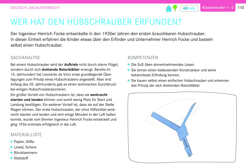 Genius Box: Wer hat den Hubschrauber erfunden? Deutsch, Sachunterricht, Klassenstufen 1-2